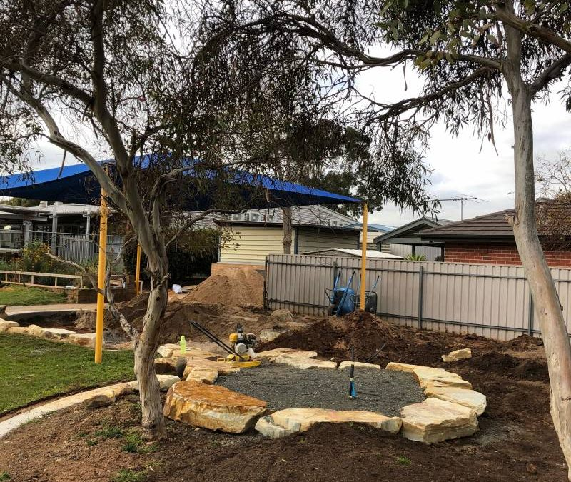 Nature play redevelopment works on our Western Oval